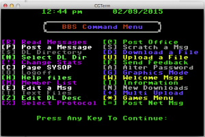BBS Command Main Menu